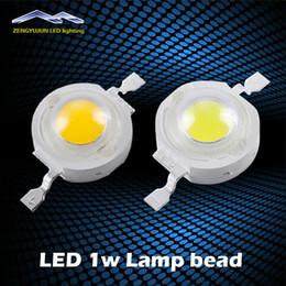 Wholesale 1w led light bulb - LED 1W High Power Light bead 100-120LM Bulb Lamp White Warm White 300mA 3.2-3.4V 100-120LM 30mil Free Shipping