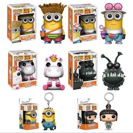 Wholesale Despicable Girls - New hot sale FUNKO Pop Despicable Me Minions king Bob Minions Boxed PVC Collection 12CM gift for children