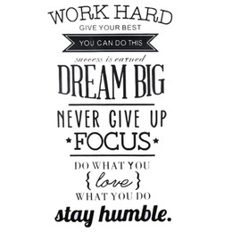 Wholesale Inspirational Quotes Wall Stickers - Work Hard motivation wall decals office room decor Never Give Up DREAM BIG Inspirational Quote wall stickers Art Decorative