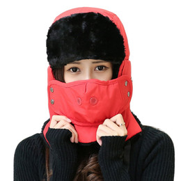 Wholesale Lei Feng Hat - Wholesale- New Arrival Unisex Lei Feng Cap Riding Windcap Mask Scarves Cap One-piece Product Detachable Cap Winter Thickened Velvet Hat