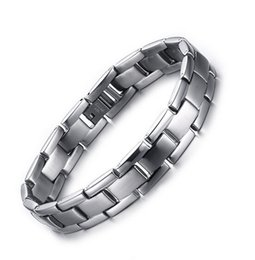 Wholesale Bracelet Link Types - 2016 Newest Design Valentine's day gifts For Men Fashion Silver 316L stainless steel Strap type Link Chain Bracelet 13mm 8.85''