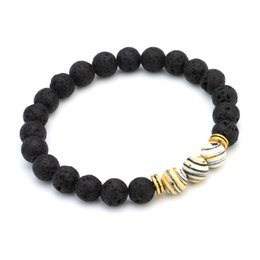 Wholesale Indian Stone Beads - Free Shipping (8pc)New Arrival Lava Natural Stone beads Bracelets 7 Color Stone Beaded Fashion Bracelet Bangle Wholesale Beaded, Strands