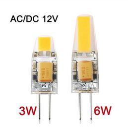 2019 dc 12v Затемняемый G4 LED 12V AC / DC COB Light 3W 6W высокое качество LED G4 COB лампы лампы CE дешево dc 12v
