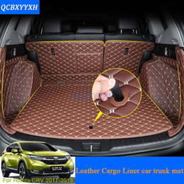 Wholesale Carpet Liner - For Honda CRV CR-V 2017 2018 Car Boot Mat Rear Trunk Liner Cargo Floor Carpet Tray Protector Accessories Sticker Dog Pet Cover