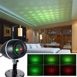 Wholesale Sky Spotlights - Wholesale- Star Sky Laser Projector Lights Red+Green Moving Spotlights Outdoor Holiday Christmas Party Decorations Patio Stage Effect Light