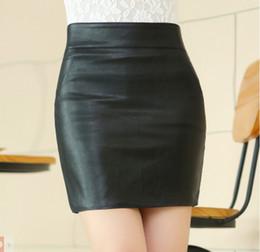 Wholesale Genuine Leather Skirts - Full genuine leather women skirt 2015 autumn sheepskin high Waist skirt fashion new package hip skirt women fashion skirt short