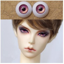 Wholesale 12mm Purple Eyes - Purple BJD Doll Acrylic Eyes 8mm, 10mm,12mm,14mm 16mm,18mm,20mm,22mm Doll Eyeball Doll Accessories 5 Pairs Lot Free Shipping
