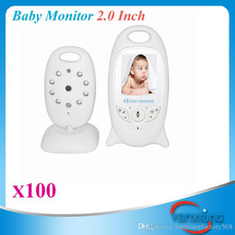 Wholesale Ir Temperature Camera - Wireless Baby Monitor Security Camera 2 Way Talk Nigh Vision IR LED Temperature Monitoring with 8 Lullabies 100 PCS ZY-SX-03