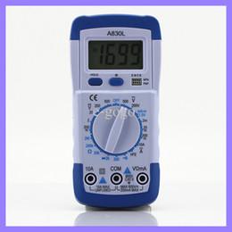 2019 medidor de circuito Pocket DMM Multímetro digital A830L Amperímetro Multitester Voltímetro Megohmetro Ohmiómetro hFE Probador de corriente con retroiluminación de LCD