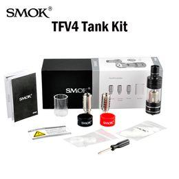 Wholesale Electronic Cigarette Kit 5ml - Original SMOK TFV4 Atomizers 5ml Top Refill Airflow Control Sub Ohm Tank Atomizer Electronic Cigarettes Vaporizer Kit Vs Micro TFV4 TFV8