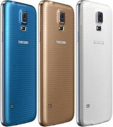 Галактика s5 quad core онлайн-Восстановленное в Исходном Samsung Galaxy S5 i9600 G900F G900V G900A G900T G900V Quad Core 2 ГБ / 16 ГБ 4 Г LTE DHL бесплатно