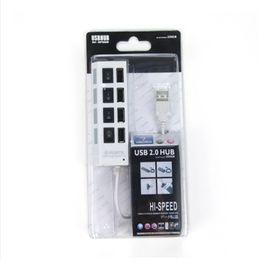 Wholesale Cheap Usb Mini Pc - Cheap 480mbps High Speed Mini USB Hub Socket Style 4 Ports Multi Charger Hub USB 2.0 On Off Adapter Switches For PC Laptop 100pcs DHL