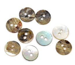 Wholesale Mother Pearl Sewing Buttons - Free Shipping 200 Pcs Mother of Pearl Round Sewing Buttons Scrapbooking 11x11mm Knopf Bouton