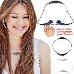 Wholesale Vibrating Bluetooth - Gear Circle SM-R130 Wireless Bluetooth Headset Earphone Hands-Free Vibrating Neckband Headphone For SAMSUNG iPhone htc lg tablet ipad