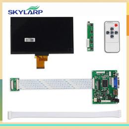 Wholesale Raspberry Screen - Wholesale- skylarpu 1024*600 IPS Screen Display LCD TFT Monitor EJ070NA-01J with Remote Driver Control Board 2AV HDMI VGA for Raspberry Pi