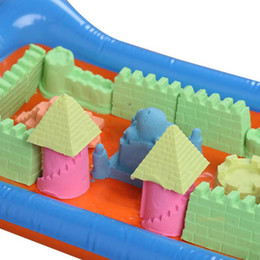Wholesale Red Castle Games - Gift Tools Colors Dynamic Creativity Educational Amazing Indoor Magic Play Sand Mars Space Mold Game Tool Beach Castle Building Toys