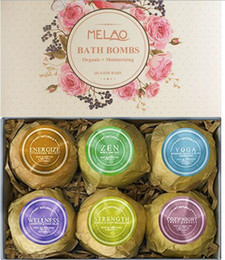 Wholesale Wholesale Handmade Bath Body - Melao Bath Bomb ball Skin Care Oil Sea Salt Body Cleaner Handmade MELAO explosion Firming Ball to relieve fatigue 1box=6pcs