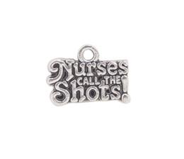 pedra de pérolas de pandora Desconto Chegam novas 50 PCS Antiqued Silver Metal Enfermeiros Shorts encantos # 91999