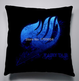 Wholesale Manga Cover - Wholesale-Free Shipping Anime Manga Fairy Tail 40x40cm Pillow Case Cover Seat Bedding Dragon Ball Cushion 007