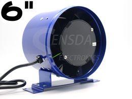 "Wholesale Exhaust Ventilation - exhaust fan 6"" 150mm Ventilation Inline duct fan Mixed Flow 300CFM 110VAC 220VAC 4200RPM Speed control centrifugal air blower"