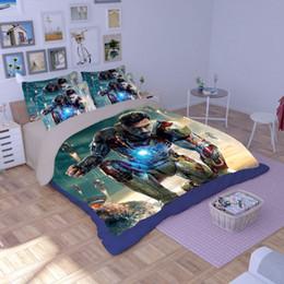 Wholesale 3d Movie Iron Man - CAH020- Multi-Choice 3D Print Movies Theme Iron Man Duvet Bedding Cover Pillow Cases Quilt Cover Bed Set Queen Sizes Bedding Set Christmas