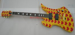 Wholesale China Rosewood - Custom Fernandes Burny MG-360s Yellow Heart Guitar Wholesale From china