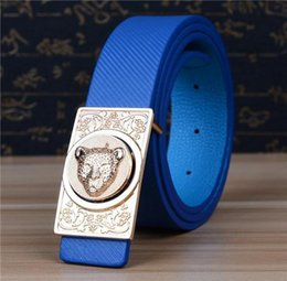 Wholesale Leopard Head Belt - Summer style leather belt women brand designer Belts Leopard head Buckle Original Casual Dress Jeans belts ,strap female 04390