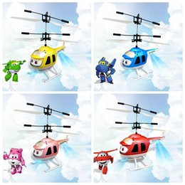 Wholesale Toy Helicopters Yellow Plastic - LED RC Drone Helicopter Flying Induction LED Noctilucent Ball Quadcopter Drone Sensor Up Grade infrared Induction Flying Toys CCA8205 100pcs