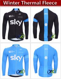 Wholesale High Quality Thermal Fleece Cycling - top high quality 2017 winter thermal fleece cycling jersey long sleeve   winter warm bicycle long sleeve shirt jacket Ciclismo coat