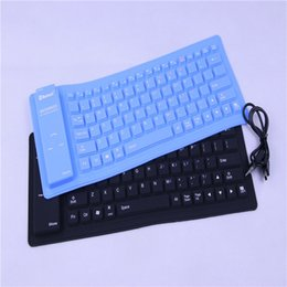 Wholesale Waterproof Silicone Flexible Keyboard - Flexible folding silicone bluetooth keyboard waterproof Soft keyboard Universal wireless Portable for ipad iphone Samsung Smart mobile phone