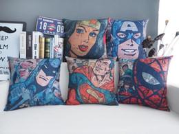 fronha superman Desconto Batman fronha, Retro Poster Capitão América homem-aranha super-homem superhero lance fronha fronha atacado