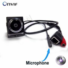 Wholesale Ip Cameras Wired - 1080P Audio Video Camera MINI IP Camera H.264 Microphone Camera P2P Network for 1.78mm Fisheye Lens Wide Angle Fisheye Lens
