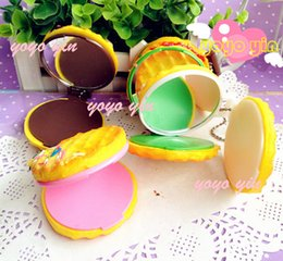 Wholesale Squishy Mirrors - Wholesale-MR-07 cute waffle cake squishy makeup mirror,portable pocket makeup cosmetic mirror,mirror bag phone key chain straps