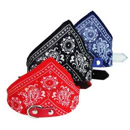 Wholesale Triangle Shaped Scarves - Wholesale-Pet products Lovely Small Adjustable Pet Cat dog Scarf Collar  Triangle-Shaped Bandana 4 Size free shipping