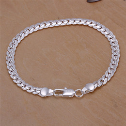 Wholesale 925 Sterling Silver Bracelets Prices - Low price 925 sterling silver snake chain bracelet 5MMX20CM Top quality fashion Men's Jewelry Free Shipping
