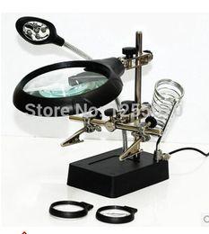 Wholesale Soldering Station Magnifier - 5LED small lamp modular multi-purpose precision electronic soldering station iron frame with power magnifier order<$18no track