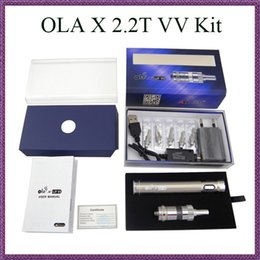 Wholesale Itaste Vv Wholesale - Original MJTech OLA X 2.2T VV Starter Kit 2200mAh 7W-16W Variable Wattage 3.3V-6.0V Voltage vs Itaste MVP 2.0 Carbon spinner 3 kits