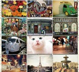 Wholesale Photography Greeting Cards - Wholesale-Free Shipping! bnetoy 4800 Map Postcard travel photography postcard Christmas Card Greeting Card 32 pcs set Postcard Gift