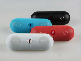 Wholesale Mp3 Mp4 Player Box - pill XL Speaker bluetooth speaker pill XL bluetooth speaker xl with Retail box for tablet PSP iphone6 S6 HTC phone MP4 DHL FREE