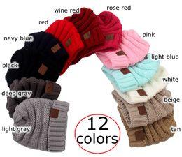 Wholesale Newborn Baby Wool Hats - INS XMAS Baby Hats CC Trendy Beanie Crochet Fashion Beanies Outdoor Hat Winter Newborn Beanie Children Wool Knitted Caps Warm Beanie 12color