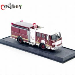 Wholesale Toys Model Fire Car - 1:64 2006 ALF Eagle Pumper USA Diecast Fire Truck Car Model toys Limited Edition Wine Red