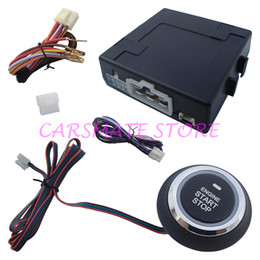 Wholesale Universal Push Button Car - In Stock! Universal Push Button Start Module W Remote Engine Start For Automatic Shift Car & Compatible With Car Alarm System!