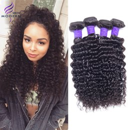 Wholesale Deep Curly Real Hair - Brazilian Curly Virgin Hair Brazilian Human Hair Deep Wave 4 Bundles Real Human Hair Weave Deep Wavy No Tangle