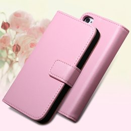 Wholesale Iphone 4s Korean Wallet - Wholesale-1pcs 2 Styles Korean Genuine Leather Case For Iphone 4 4S 4G Flip Case Wallet Stand Card Holder Cover For Iphone 4s Case Shell