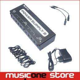 Wholesale 18v Guitar Pedal Power Supply - Joyo JP-02 Black Guitar Pedal Power Supply 9V, 12V, 18V EU AU UK US four Standard