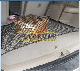 Wholesale Trunk Organiser - Flexible Car Trunk Black Nylon Net Back Seat Organiser Mounting Kit Rear Storage Cargo Organizer box
