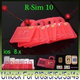 Wholesale Iphone 4s Cdma Verizon - Original R-SIM 10 RSIM 10 R SIM 10 perfect Unlock card For iPhone 6 Plus 6 5S 5C 5 4S IOS 7.x- 8.x T-mobible Sprint Verizon WCDMA GSM CDMA