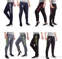 Wholesale Running Trousers - 2017 New real madrid Professional Soccer Training Pants Slim Skinny Sports Survetement Football Running Pants Tracksuit Trousers Jogging Leg