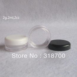 Wholesale Wholesale Cosmetic Cream Containers - 2g PS Cream Jar Cosmetic Container Sample Jar Display Case Cosmetic Packaging Mini plastic bottle small tin