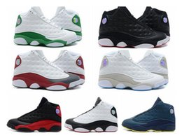 Wholesale Teal Lace Fabric - Wholesale Famous Trainers 13 XIII Retro 13s Hologram Men's Sports Basketball Shoes Barons (white black grey teal)
